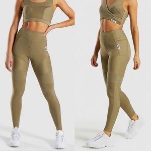 Gymshark True Texture High-Waisted Legging Khaki M